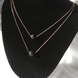 Jewelry - Lava stone essential oil diffuser necklace